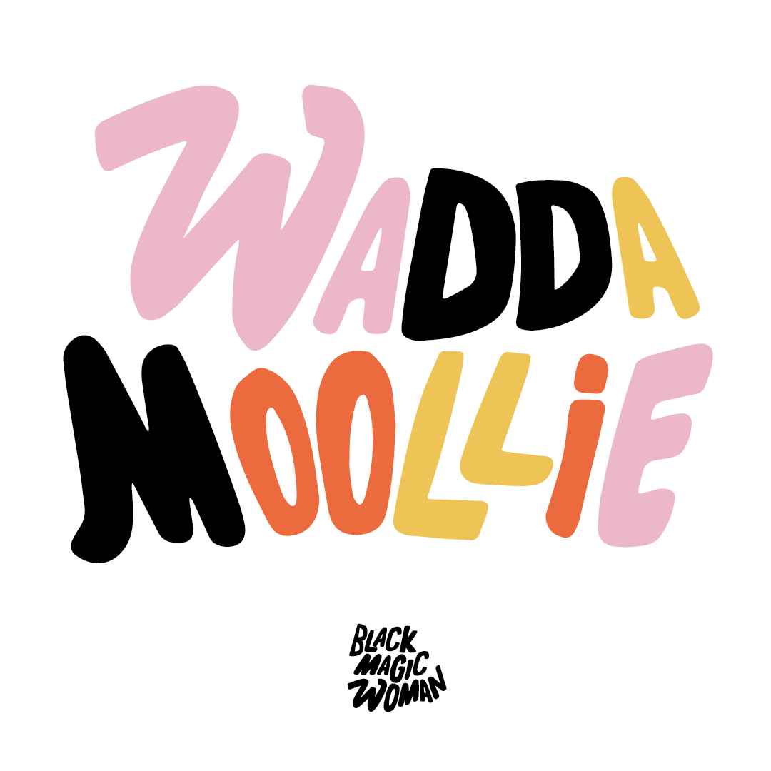 Waddamoolie means hello in my father's language.
